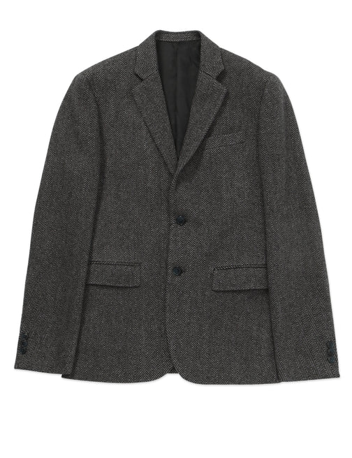 HERRINGBONE TWEED TRAVEL JACKET