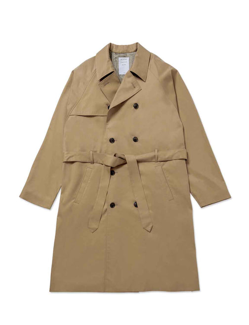 LEATHER PLEATS TRENCH COAT