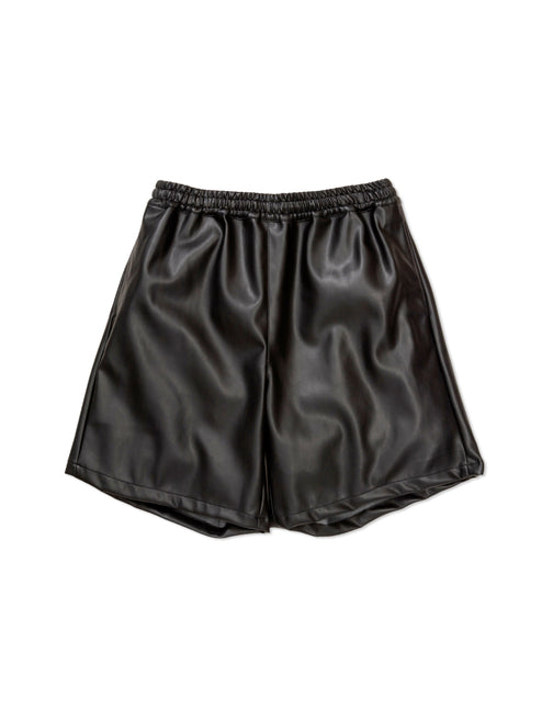 FAUX LEATHER SKATER SHORT