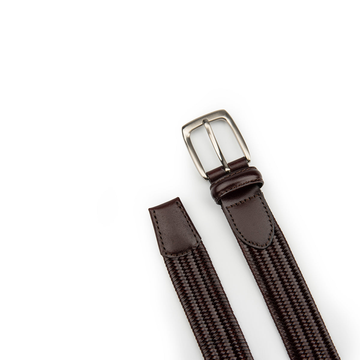 Trendy Elastic Woven Leather Belt