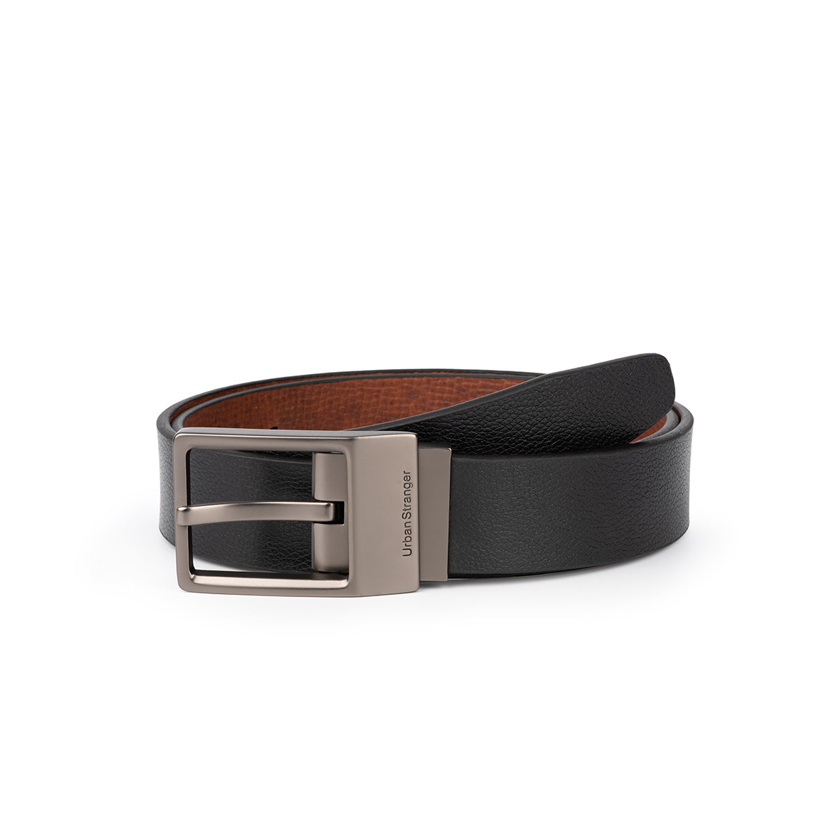 Reversible Embossed Leather Belt
