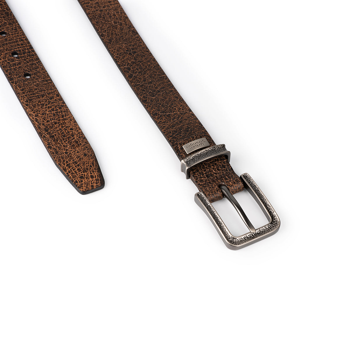 Crack Effect Leather Belt