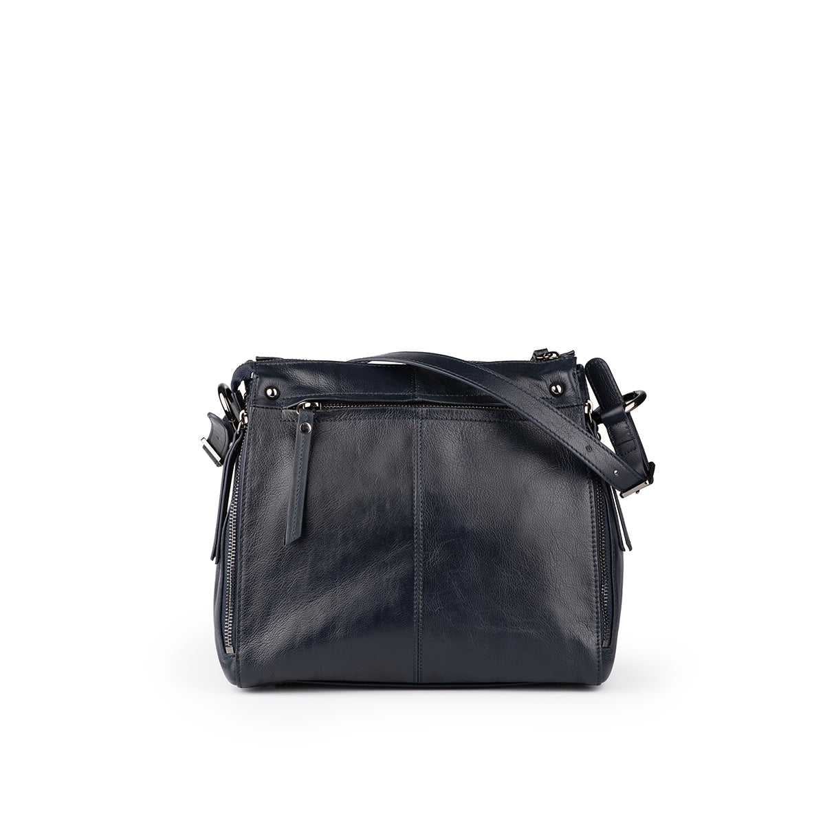 4-Zipper Leather Bag