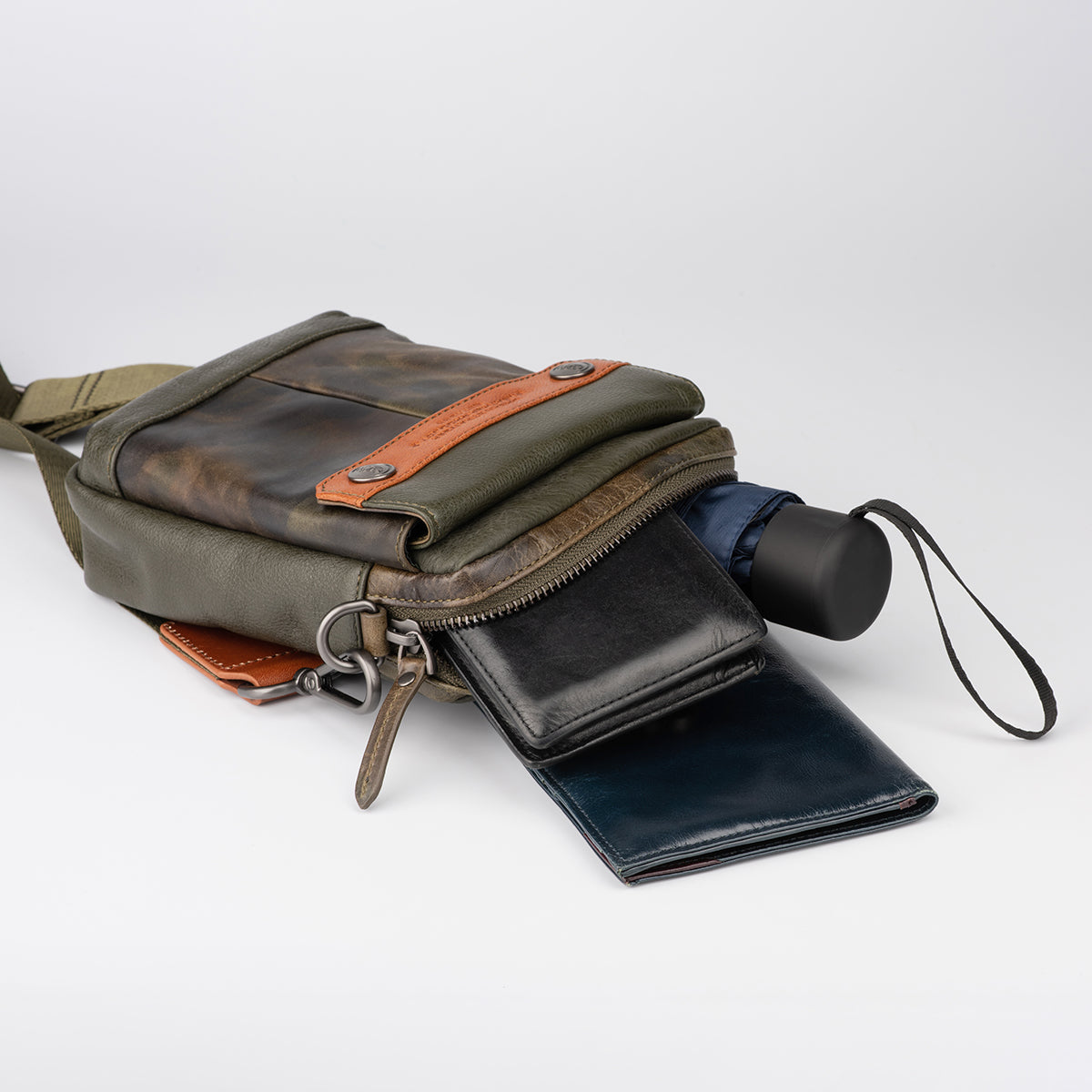 Leather Multi-Purpose Pouch with Strap