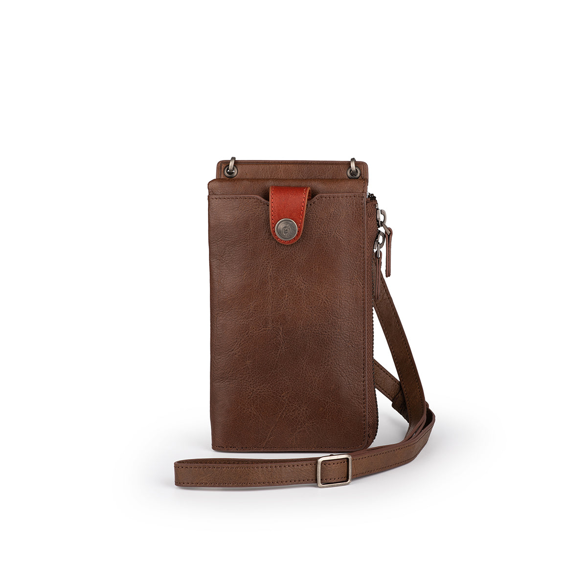 Long Leather Pouch with Strap