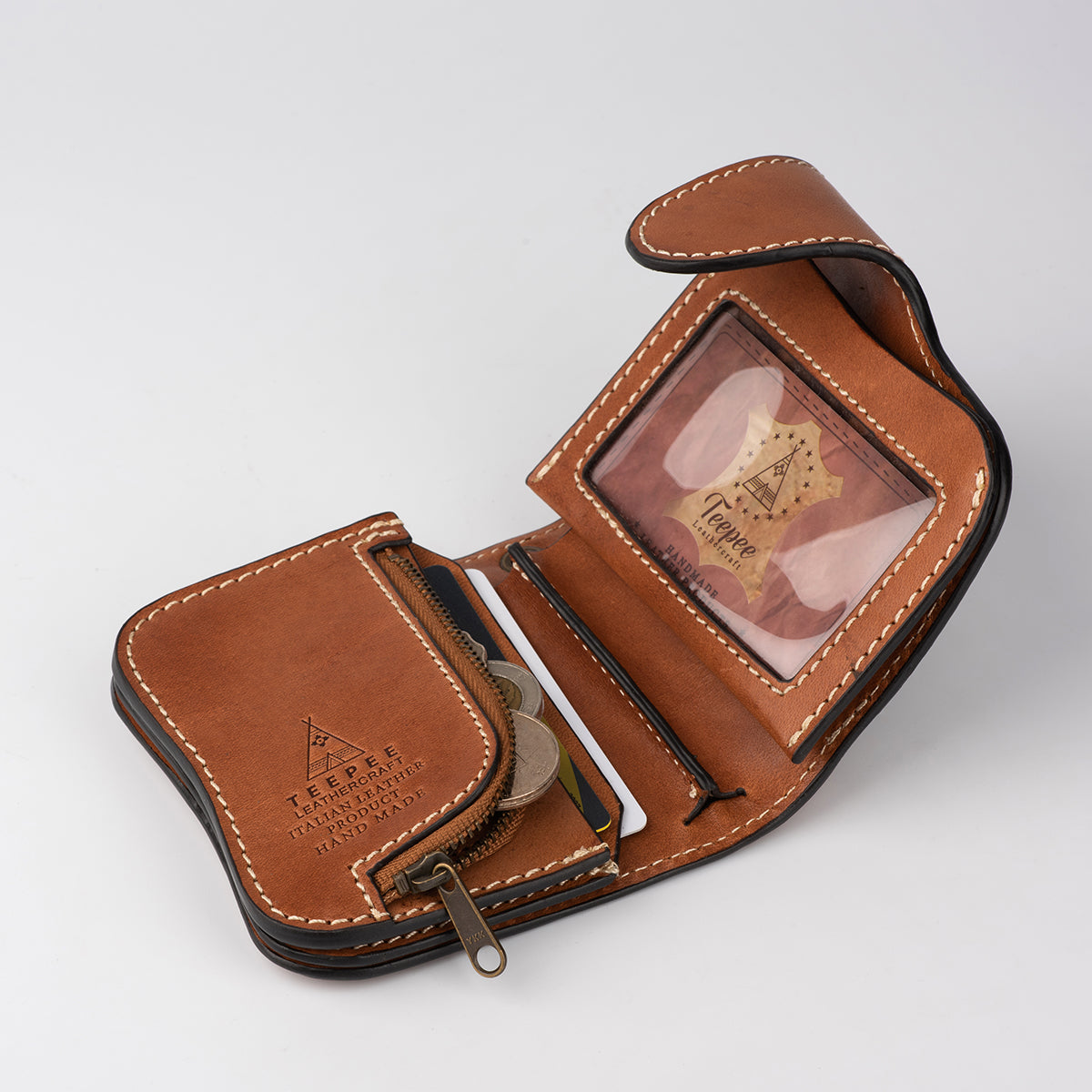 Ostrich foot leather wallet
