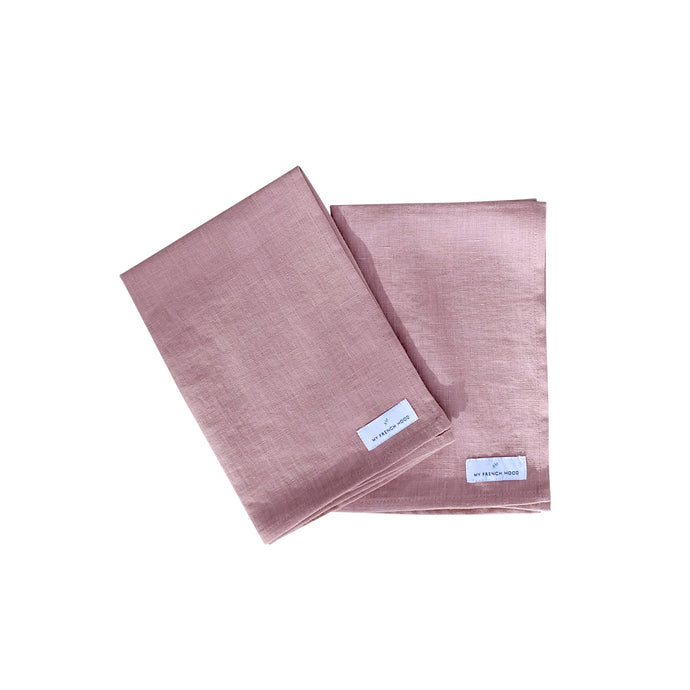MFH Linen kitchen towel - woodrose, 2 pack