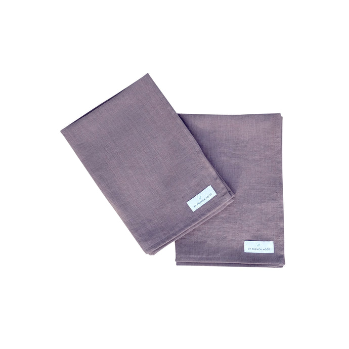 MFH Linen kitchen towel - charcoal gray, 2 pack