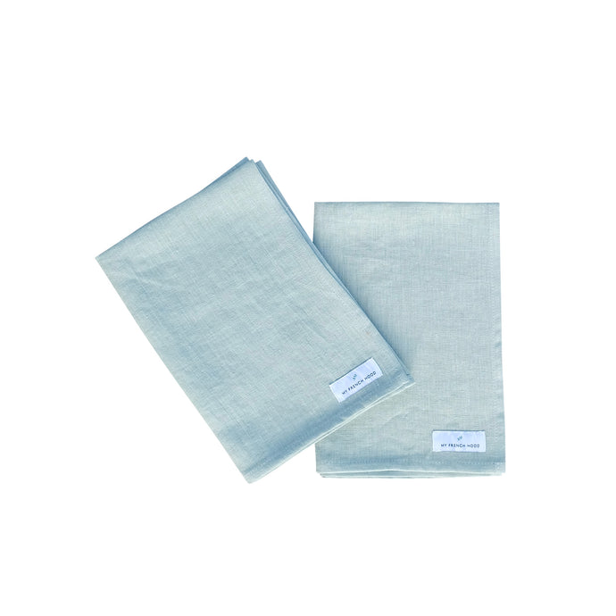MFH Linen kitchen towel - dusty green, 2 pack