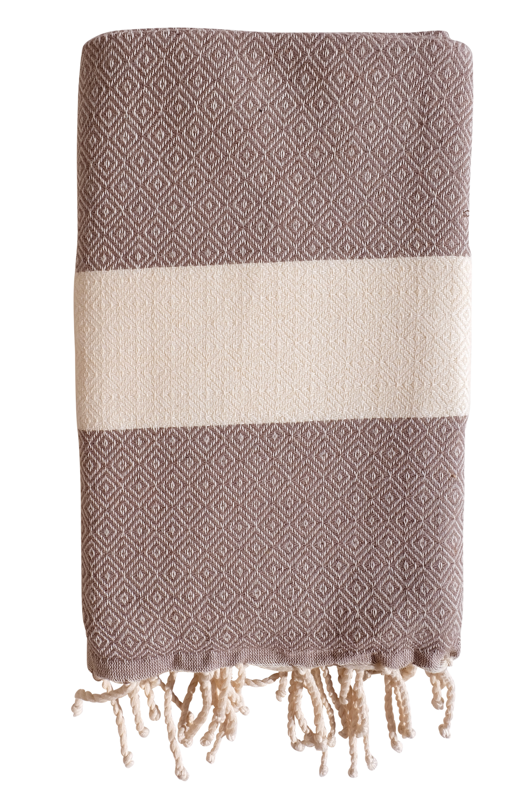 Fouta Saint Tropez - milk chocolate / ecru