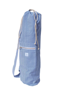Yoga bag, blue stripe