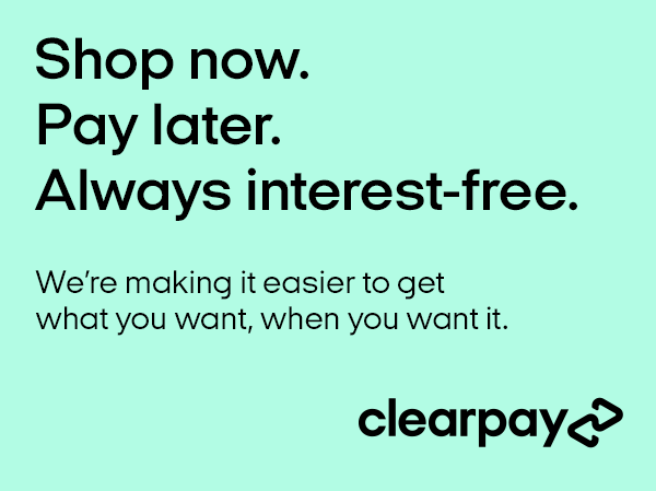Clearpay shop now pay later, free instalments, shop personalised gifts