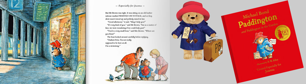 Paddington personalised kids books, paddington licensed gifts