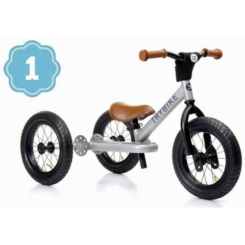 Trybike steel balance bike for kids
