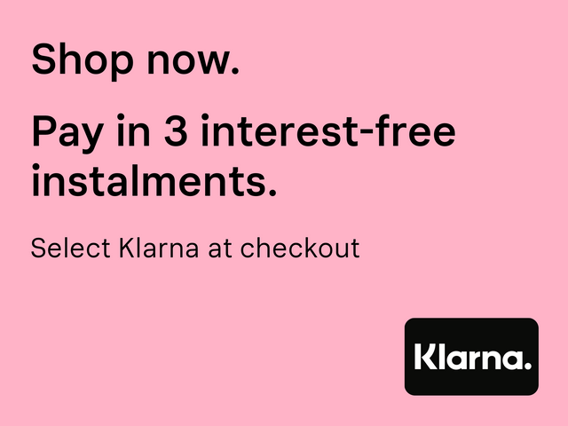 Klarna shop now pay later, free instalments, shop personalised gifts