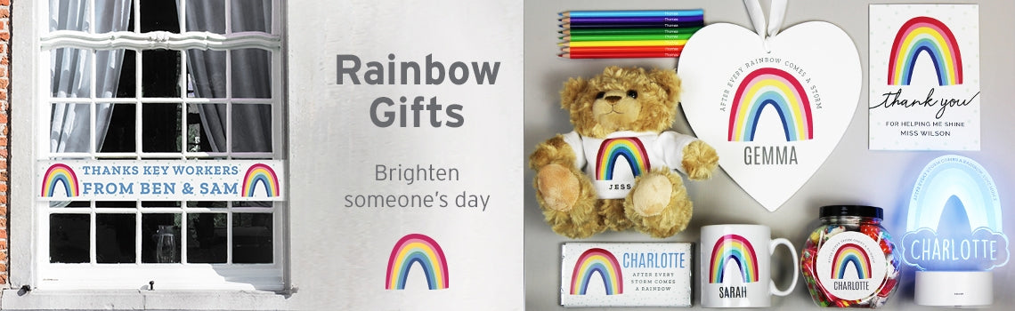personalised rainbow gift range