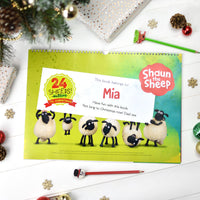 Personalised Shaun the Sheep '24 Sheeps' Activity Advent Calendar - Personalised Books-Personalised Gifts-Baby Gifts-Kids Books
