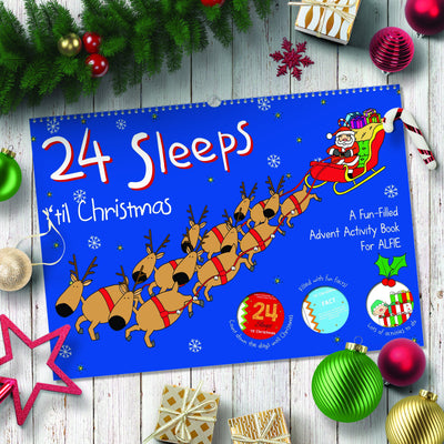 24 Sleeps 'til Christmas Personalised Advent Calendar Book - Shop Personalised Gifts