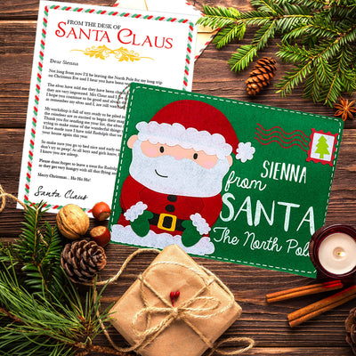 Personalised Santa Letter & Envelope Father Christmas Letter - shop-personalised-gifts