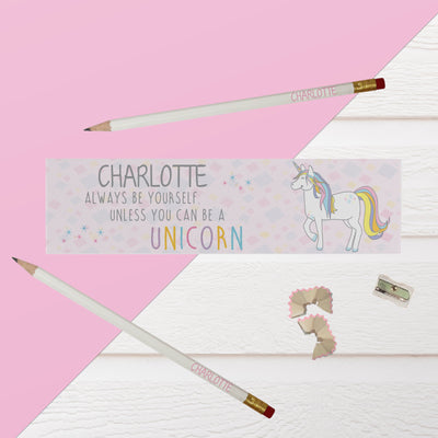 Personalised Always Be a Unicorn Pencil Case and Pencils - Shop Personalised Gifts