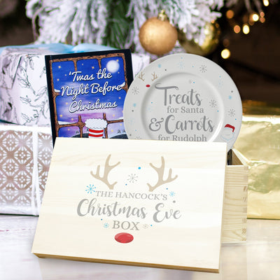 Christmas Eve Box Set With Santa Plate & Christmas Book - Shop Personalised Gifts