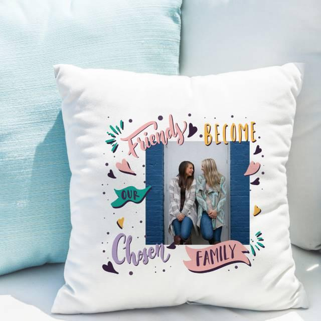 Chosen Family Photo Upload Filled Cushion