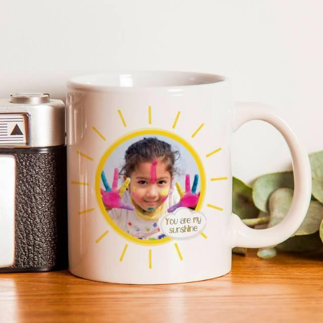 Sunshine Photo Upload Ceramic Mug
