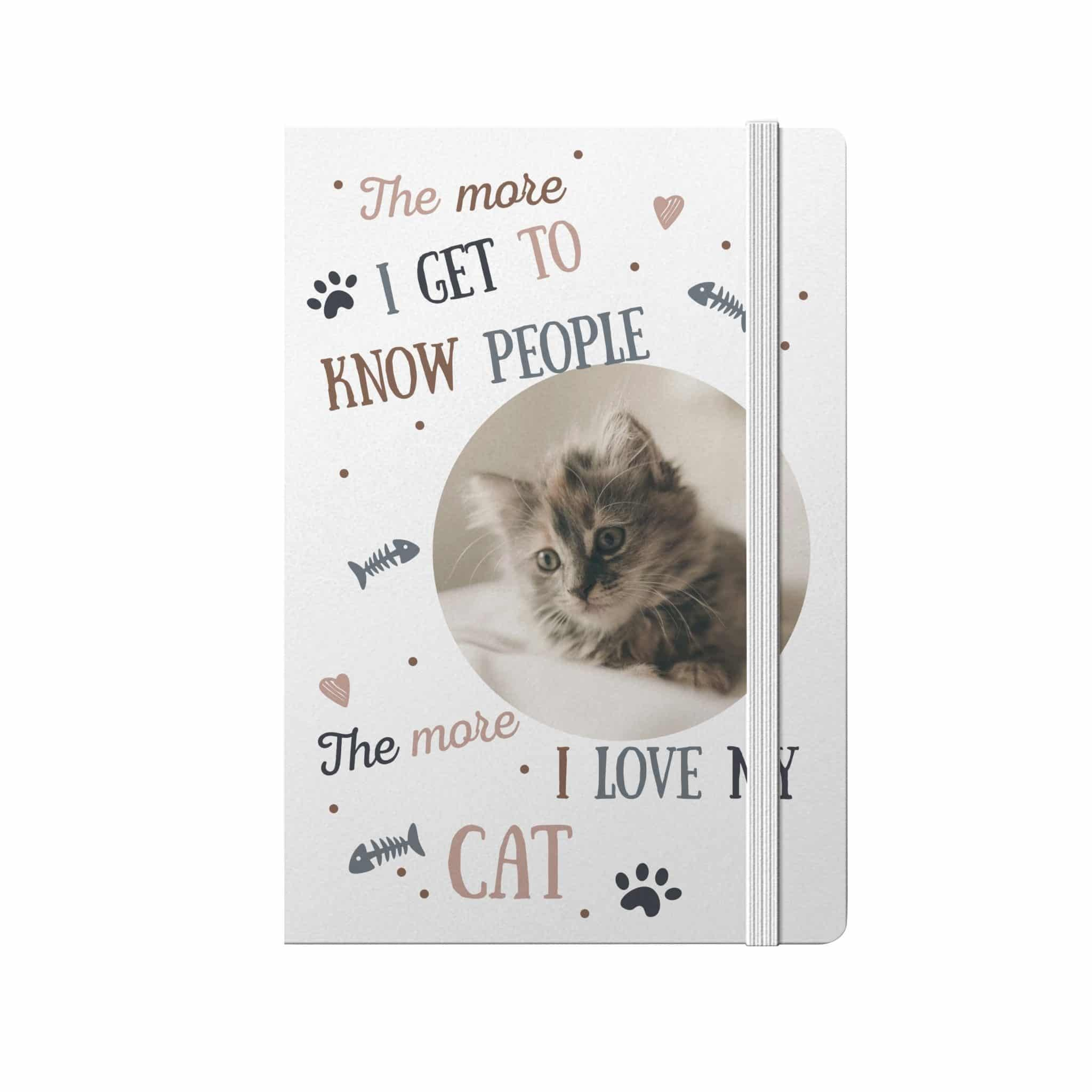 I Love My Cat Photo Upload Notebook