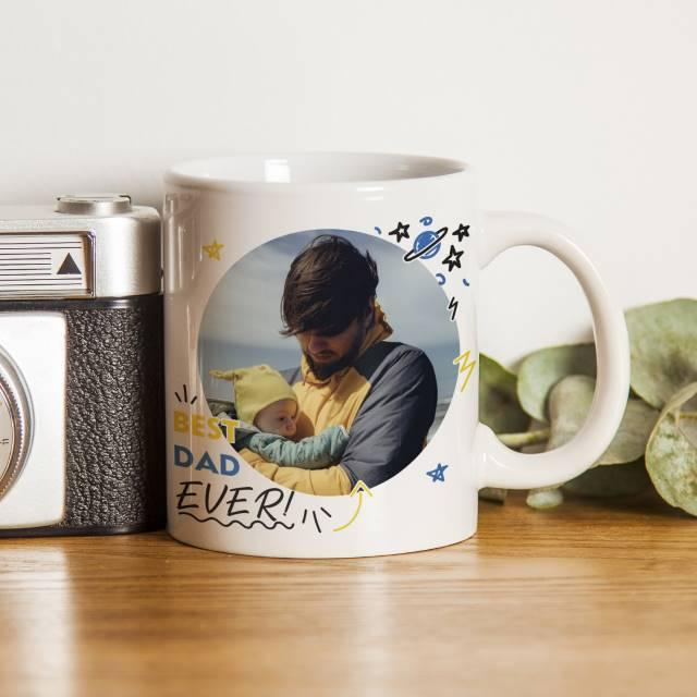 Best Dad Ever Photo Upload Ceramic Mug