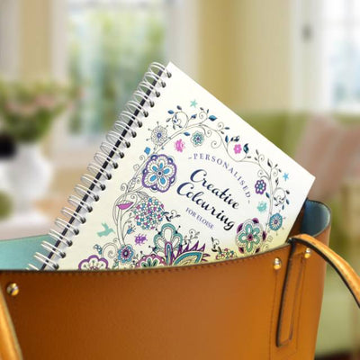 Personalised Grown Ups Deluxe A5 Travel Colouring Book - Shop Personalised Gifts