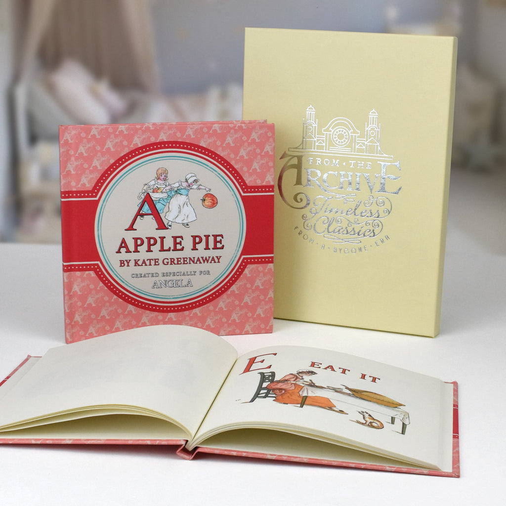 Personalised Childs A is for Apple Pie - by Kate Greenaway - Personalised Books-Personalised Gifts-Baby Gifts-Kids Books