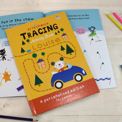 Personalised Arty Mouse Tracing Activity Book - Personalised Books-Personalised Gifts-Baby Gifts-Kids Books
