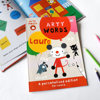 Personalised Arty Mouse Learning Words Activity Book - Personalised Books-Personalised Gifts-Baby Gifts-Kids Books
