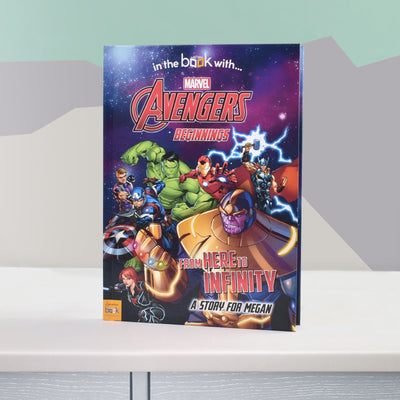 Avengers Beginnings from Here to Infinity Personalised Marvel Story Book - Shop Personalised Gifts