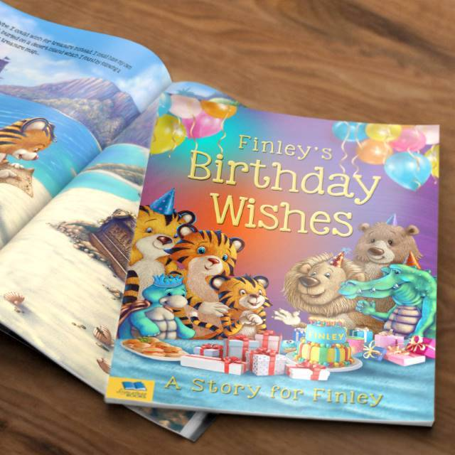 Birthday Wishes Personalised Book - Shop Personalised Gifts