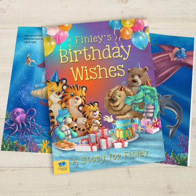 Birthday Wishes Personalised Book - Personalised Books-Personalised Gifts-Baby Gifts-Kids Books