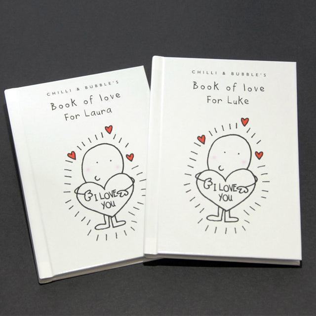 Chilli and Bubble's Personalised Book of Love for Her