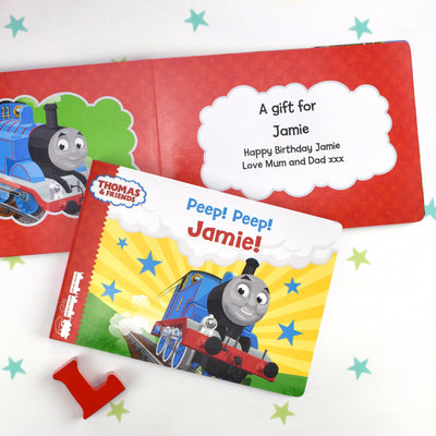 Personalised Thomas and Friends Peep Peep! Board Book - Shop Personalised Gifts