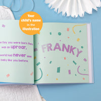 Personalised On the Day You Were Born Book - shop-personalised-gifts