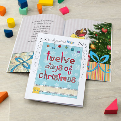 Personalised 12 Days of Christmas Book - SPG Favourite - Shop Personalised Gifts