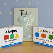 Colours and Shapes Children's Board Book Gift Set - Shop Personalised Gifts