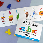 First Steps Alphabet Personalised Board Book - Shop Personalised Gifts