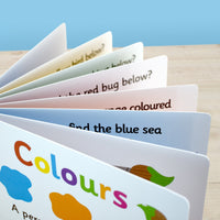 First Steps Colours Personalised Board Book - Shop Personalised Gifts