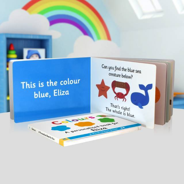 First Steps Colours Personalised Board Book - Shop Personalised Gifts (4636690874454)
