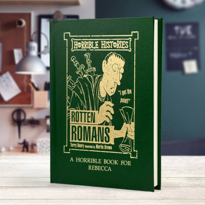 Personalised Horrible Histories Rotten Romans Book - Shop Personalised Gifts