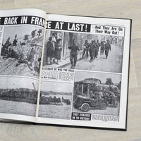 D-Day Landings Newspaper Book - Black Leather - shop-personalised-gifts
