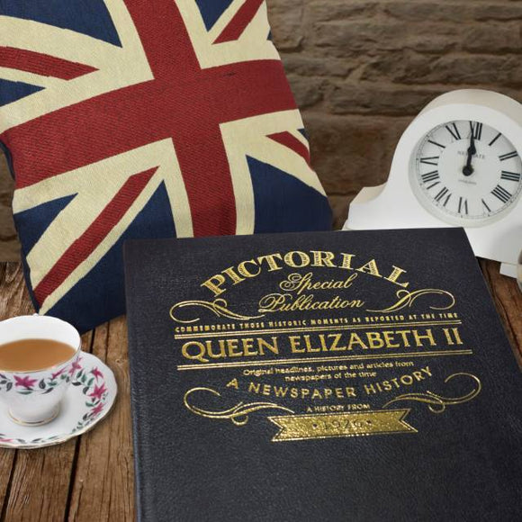 Queen Elizabeth Pictorial Edition Newspaper Book - shop-personalised-gifts