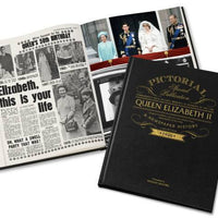 Queen Elizabeth Pictorial Edition Newspaper Book - Personalised Books-Personalised Gifts-Baby Gifts-Kids Books