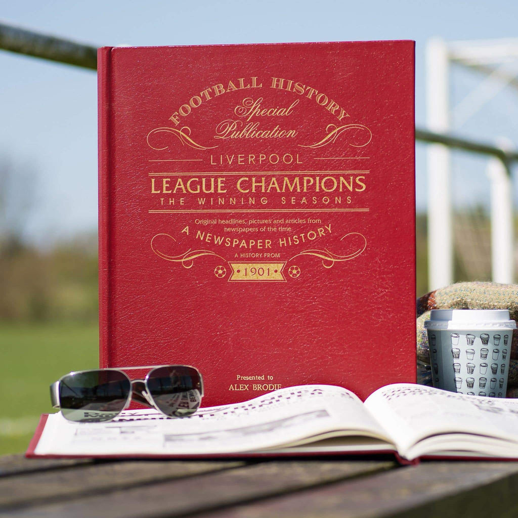 Liverpool League Champions - The Winning Seasons Newspaper Book - Personalised Books-Personalised Gifts-Baby Gifts-Kids Books