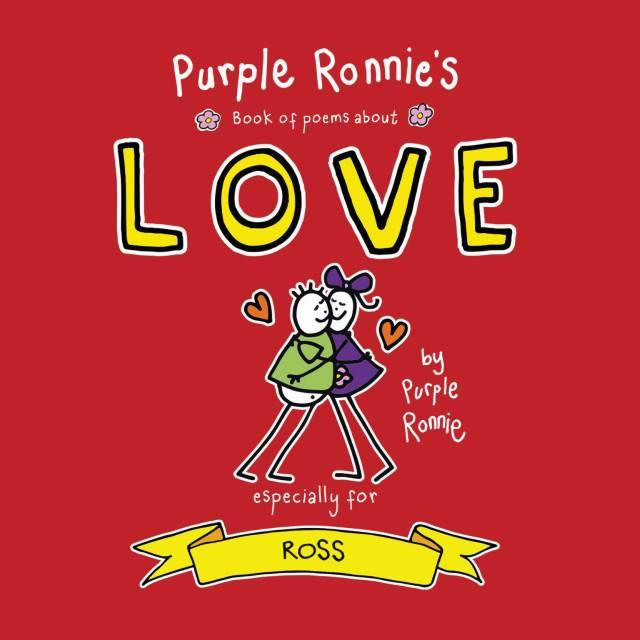 Personalised Purple Ronnie's Book of Poems About Love